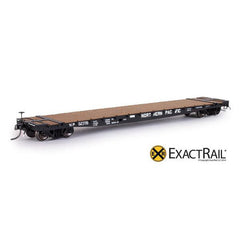 "HO Scale: GSC 53'-6"" Flat Car - 43'-3"" Truck Centers - NP - 1965 'As Delivered'"
