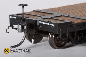 "GSC 53'-6"" Flat Car : 43'-3"" Truck Centers : NP : 1965 'As Delivered' - ExactRail Model Trains - 3"