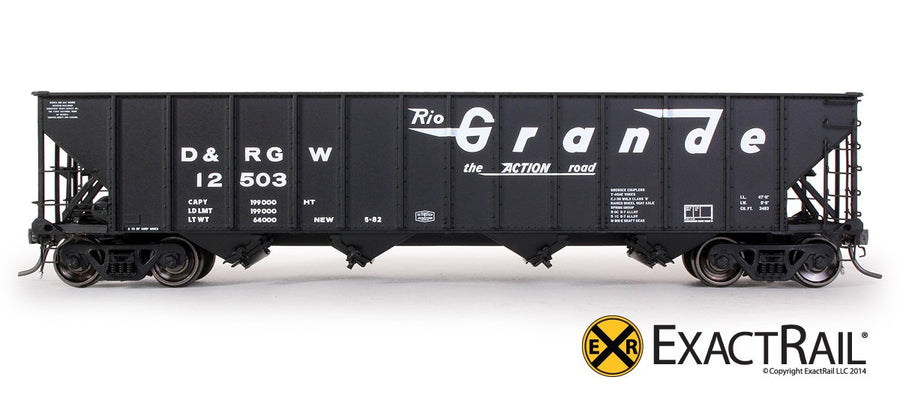 HO Scale: Bethlehem 3483 Hopper - D&RGW - 'As Delivered' 12500-12750