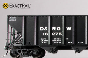 Bethlehem 3483 Hopper : D&RGW : 'As Delivered' 16275-16774 - ExactRail Model Trains - 5