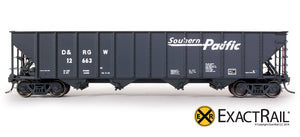 Bethlehem 3483 Hopper : D&RGW : Southern Pacific Speed Lettering : 12663 - ExactRail Model Trains - 2