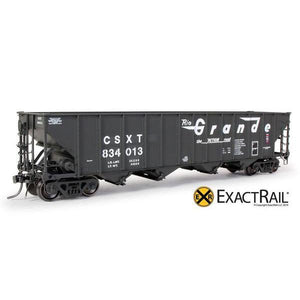 HO Scale: Bethlehem 3483 Hopper - CSX - 2-Panel Ex-D&RGW As Delivered