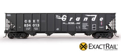 Bethlehem 3483 Hopper : CSX : 2-Panel Ex-D&RGW As Delivered - ExactRail Model Trains - 2