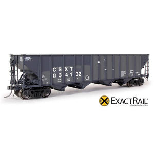 HO Scale: Bethlehem 3483 Hopper - CSX - 3 Panel Ex-D&RGW Post SP Repaint