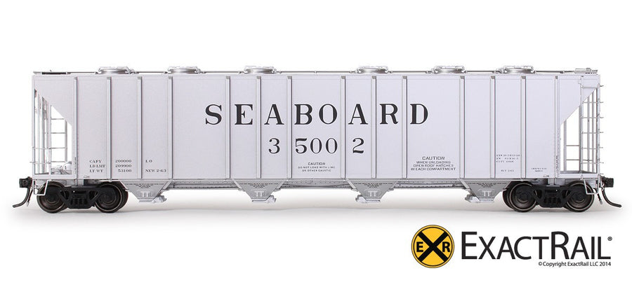 "HO Scale: Magor 4948 ""Big John"" Covered Hopper - Seaboard Air Line 'As Delivered'"