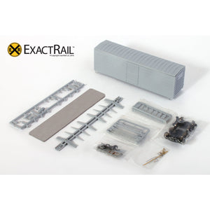 HO Scale: MILW 40' Rib Side Boxcar - Undecorated Kit