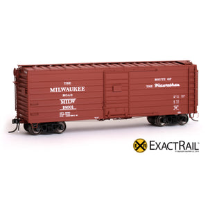 HO Scale: Milwaukee Road 40' Rib Side Box Car - MILW