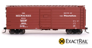 X - Milwaukee Road 40' Rib Side Box Car : MILW - ExactRail Model Trains - 4