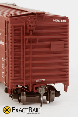 X - Milwaukee Road 40' Rib Side Box Car : MILW - ExactRail Model Trains - 2