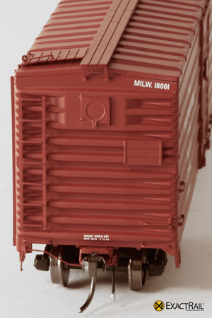 X - Milwaukee Road 40' Rib Side Box Car : MILW - ExactRail Model Trains - 3