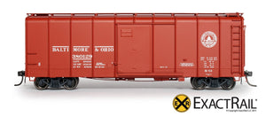 B&O M-53 Wagontop Boxcar : Early 13 Great States - ExactRail Model Trains - 2