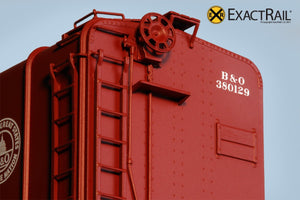 B&O M-53 Wagontop Boxcar : Early 13 Great States - ExactRail Model Trains - 4