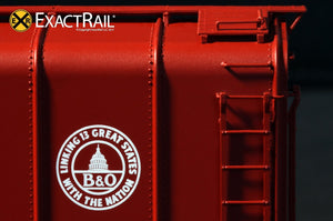 B&O M-53 Wagontop Boxcar : Early 13 Great States - ExactRail Model Trains - 6
