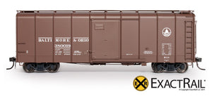B&O M-53 Wagontop Boxcar : Wartime Kuhler - ExactRail Model Trains - 2