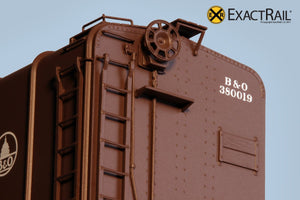 B&O M-53 Wagontop Boxcar : Wartime Kuhler - ExactRail Model Trains - 3
