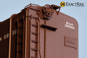 B&O M-53 Wagontop Boxcar : 1937 - ExactRail Model Trains - 3
