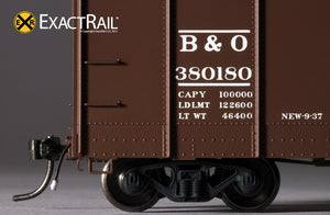 B&O M-53 Wagontop Boxcar : 1937 - ExactRail Model Trains - 6