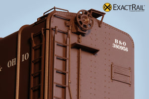 X - B&O M-53 Wagontop Box Car : Early Kuhler - ExactRail Model Trains - 5
