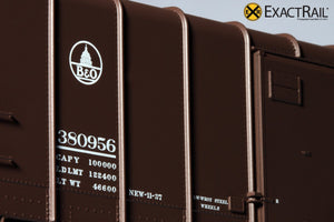 X - B&O M-53 Wagontop Box Car : Early Kuhler - ExactRail Model Trains - 3