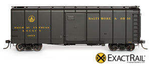 B&O M-53 Wagontop Boxcar : Olive Coach Green - ExactRail Model Trains - 2