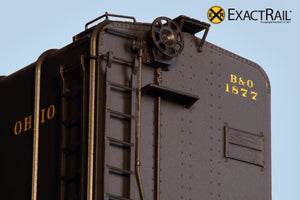 B&O M-53 Wagontop Boxcar : Olive Coach Green - ExactRail Model Trains - 3