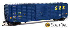 X - PS 50' Waffle Box Car : CSXT - ExactRail Model Trains - 1