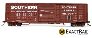 X - PS 50' Waffle Box Car : SOU - ExactRail Model Trains - 4