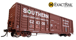 X - PS 50' Waffle Box Car : SOU - ExactRail Model Trains - 3
