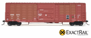 PS 50' Waffle Boxcar : DME - ExactRail Model Trains - 2