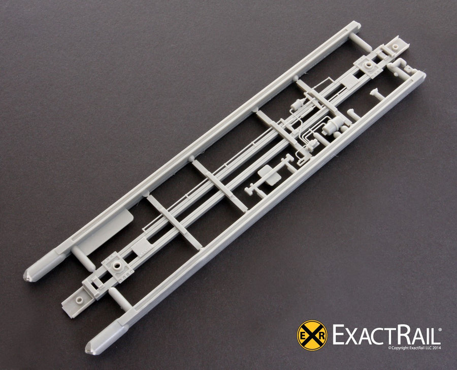 HO Scale: Underframe, 50' Hydro-Cushion