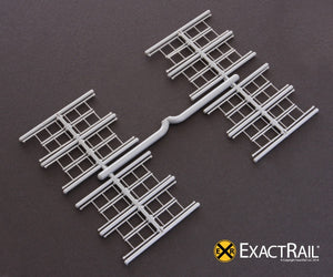 Details - Ladder, 3-rung with tall ladder style - ExactRail Model Trains - 2