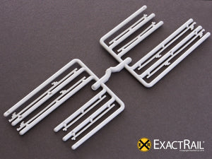 Details - Door Tracks: 12' plug door tracks (2 parts/track) - ExactRail Model Trains - 2