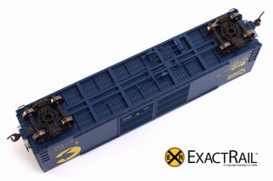 X - Gunderson 5200 Box Car : B&O - ExactRail Model Trains - 3