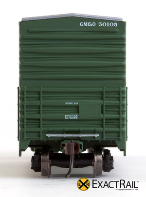 X - Gunderson 5200 Box Car : GM&O - ExactRail Model Trains - 3