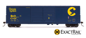 X - Gunderson 5200 Box Car : B&O - ExactRail Model Trains - 2