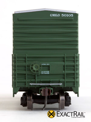 X - Gunderson 5200 Box Car : GM&O - ExactRail Model Trains - 5