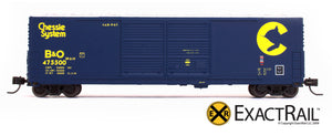 X - N - Gunderson 5200 Box Car : B&O - ExactRail Model Trains - 3