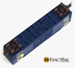 X - N - Gunderson 5200 Box Car : B&O - ExactRail Model Trains - 4