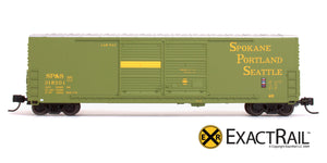 X - N - Gunderson 5200 Box Car : SP&S - ExactRail Model Trains - 6