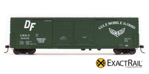 X - Gunderson 5200 Box Car : GM&O - ExactRail Model Trains - 6