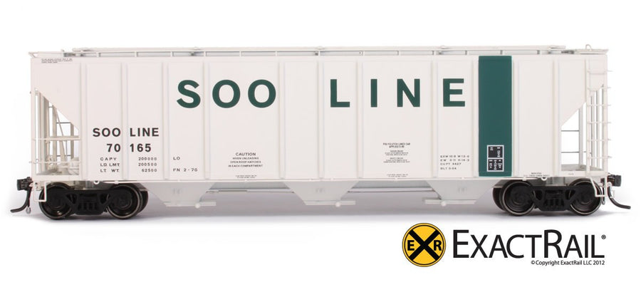 HO Scale: PS-2CD 4427 Covered Hopper - SOO LINE - 70165