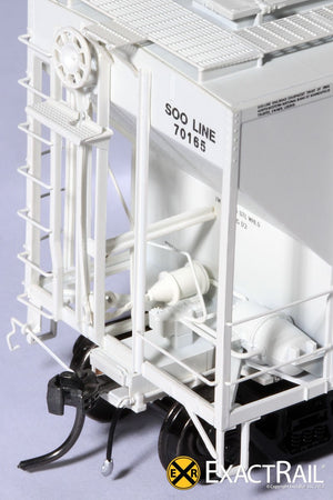 PS-2CD 4427 Covered Hopper : SOO LINE : 70165 - ExactRail Model Trains - 5