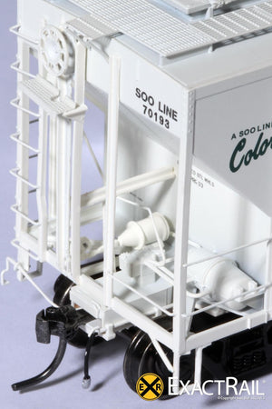 X - PS-2CD 4427 Covered Hopper : SOO LINE : 70193 - ExactRail Model Trains - 4