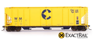 PS-2CD 4427 Covered Hopper : Chessie System - ExactRail Model Trains - 2