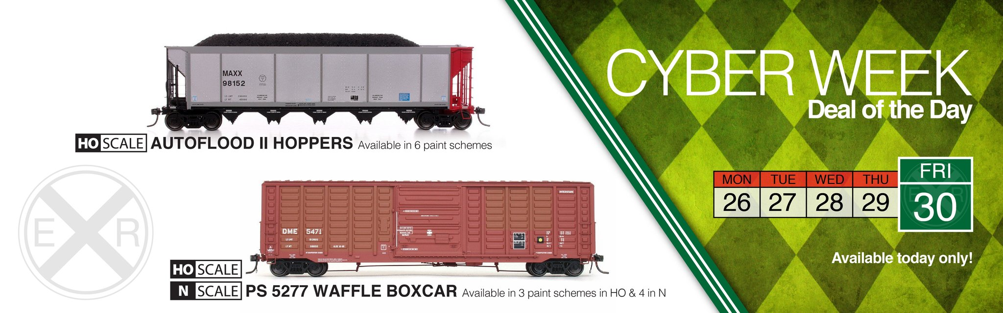 New HO Scale Greenville 7100 Autoparts Boxcars
