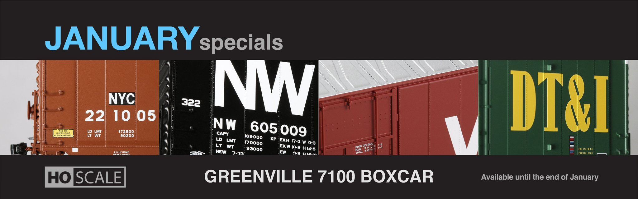 HO & N Scale April Specials
