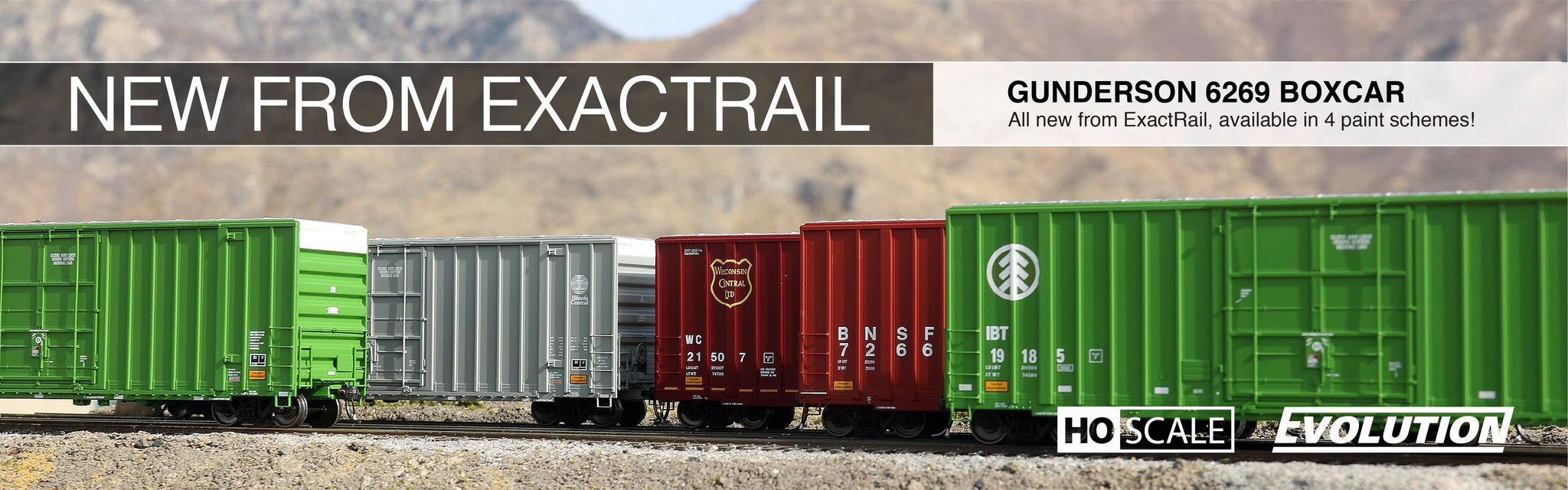exactrail.com HO Scale Gunderson 6269 Boxcar