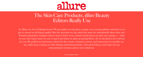 The Skin Care Products Allure Beauty Editors Really Use