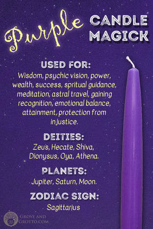 Purple candle magick