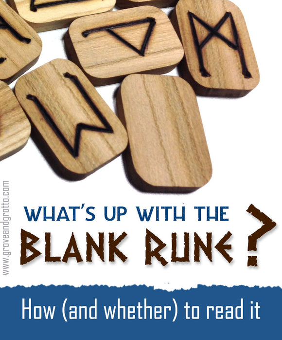 What's up with the blank rune? How (and whether) to read it